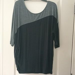 Black and gray XL maternity top